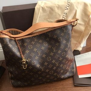 Louis Vuitton Delightful MM Bag Hobo 2015 Exc